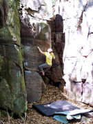 Rock Climbing Photo: This photo was washed out, so I played with it in ...