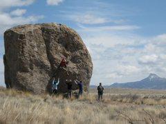 Rock Climbing Photo: First ascent of Megatron Falls