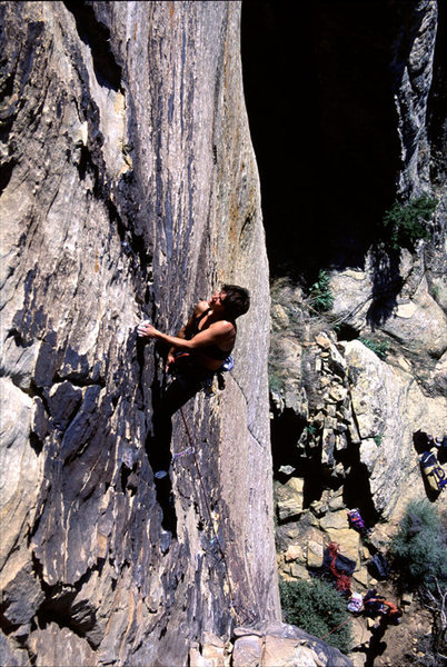 Rock Climbing Photo: Lisa Pritchett leading Caging the Zealot