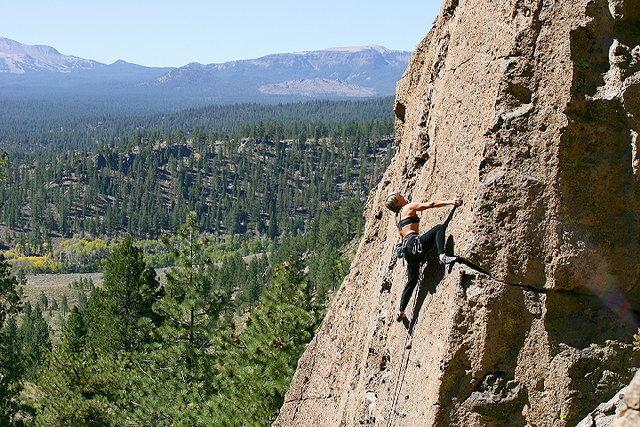 Rock Climbing Photo: Lisa Pritchett leading Breadline
