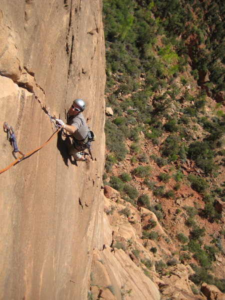 Rock Climbing Photo: Pitch 4 of Smashmouth.