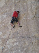 Rock Climbing Photo: Moving towards the sinker 2-finger.