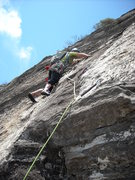 Rock Climbing Photo: A Dishman free climbing above the bolt ladder on t...