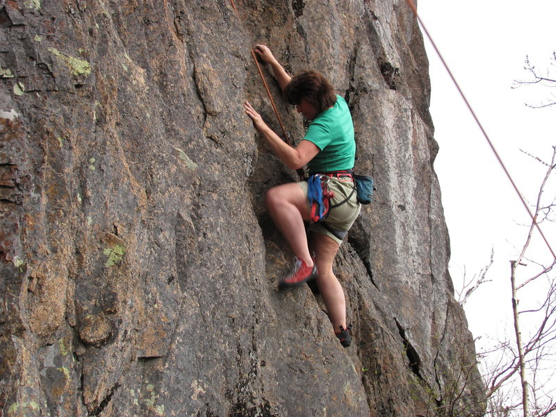 Christina on her route Ruffled Feathers 5.7