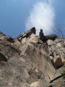 Rock Climbing Photo: looking up at the diving board, or Butolicious 12 ...