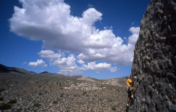 Rock Climbing Photo: Bury the Pickle is the left of two face climbs. Cl...