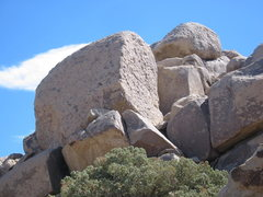 Rock Climbing Photo: Eat Me Volumne 23 is the right of two bolted face ...
