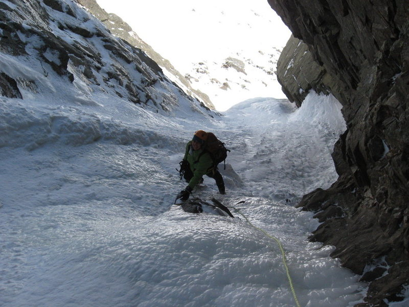 Rock Climbing Photo: Me on Pinnacle Gully 3/24/10