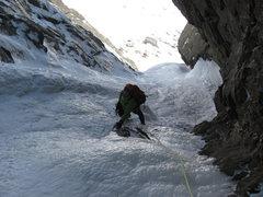 Rock Climbing Photo: Me on Pinnacle Gully 3/24/10
