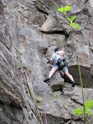 Rock Climbing Photo: Glenn on White Toad