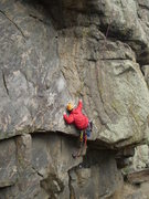 Rock Climbing Photo: Dave Clark (aka Rogers) at the 1st crux.