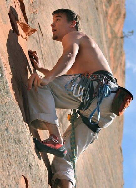 climbing in Red Rocks Open Space, Colorado Springs. Thanks for the Pic Jim!