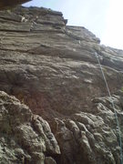 Rock Climbing Photo: From the base with Brian at the 1st belay.  P2 can...