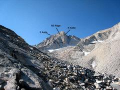 Rock Climbing Photo: N, NE and E Aretes