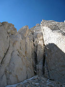 Rock Climbing Photo: Scary, dirty, loose chimney I stupidly ascended. S...