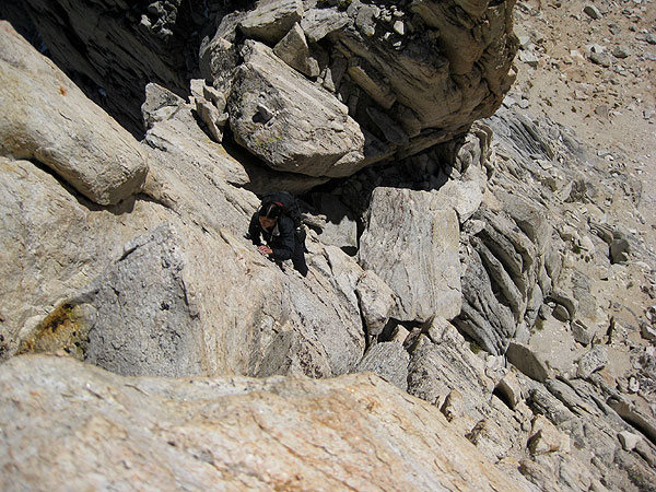 Climbing out of the first notch (photo by Jascha)