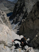 Rock Climbing Photo: Jascha heading up the ramp on the other side of th...