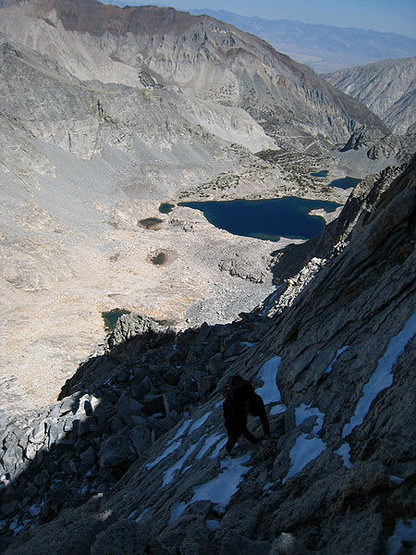 Rock Climbing Photo: Icy section (early Sep)