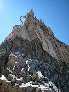 Rock Climbing Photo: Back onto the ridge