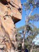 Rock Climbing Photo: Myself pulling through the crux