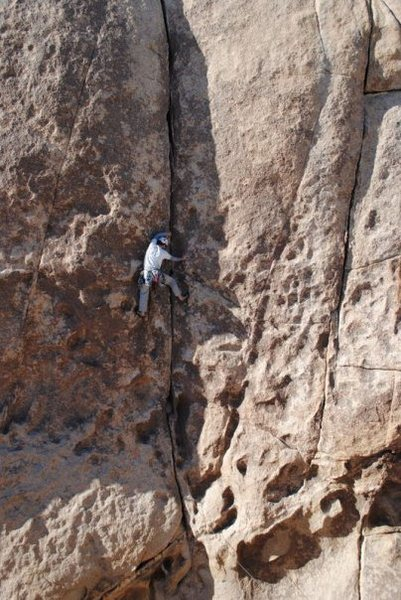 Rock Climbing Photo: Richard Shore leading Gem