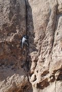 Rock Climbing Photo: Richard Shore leading Gem