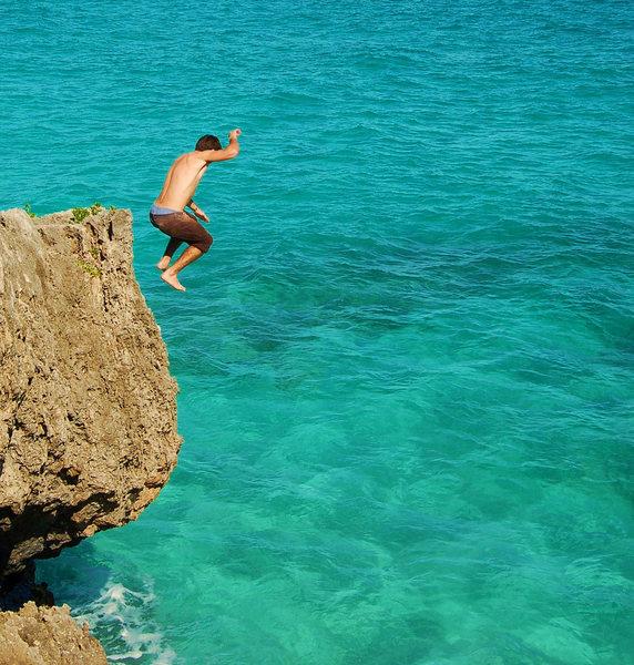 "Jumping off ""Brazilian Wax Nice"""
