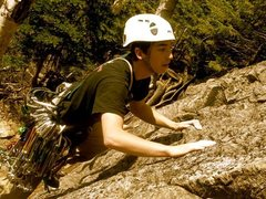 Rock Climbing Photo: leading Standard Route