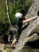 Rock Climbing Photo: donahue on the sharp end (standard Route)