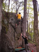 Rock Climbing Photo: Jake at the top.