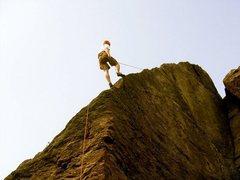 Rock Climbing Photo: comin down