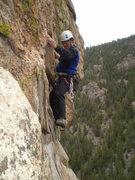 Rock Climbing Photo: Leo ascends Dirty Girl.