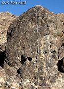"Rock Climbing Photo: ""Gun for Hire"". Photo by Blitzo."