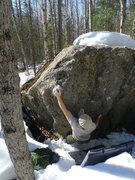 Rock Climbing Photo: Todd Helgeson warming-up on In the Trench V3, at t...