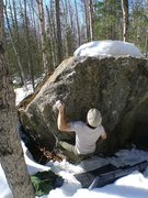 Rock Climbing Photo: Todd Helgeson warming-up/FA'ing, on In the Trench ...