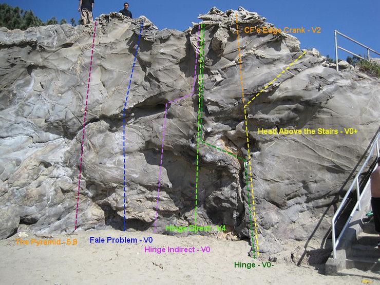 Rock Climbing Photo: Hinge Area