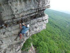 Rock Climbing Photo: Craziest 5.7+ traverse ever!