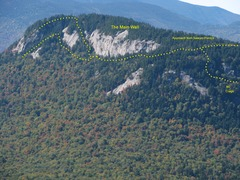 Rock Climbing Photo: Green's - The Main Wall, viewed from the top of Ow...