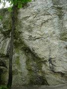 Rock Climbing Photo: The left end of Tündér Tömb.