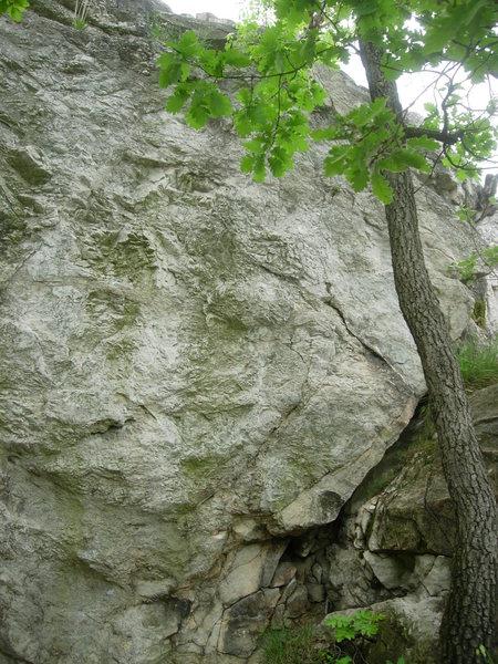 Rock Climbing Photo: The right end of Tündér Tömb.