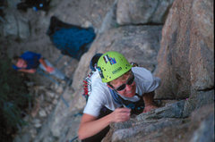 Rock Climbing Photo: Mary Moser leading Local's Only