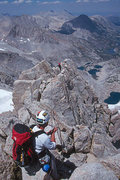 Rock Climbing Photo: Dave Burda and Lisa Pritchett on the North Arete o...