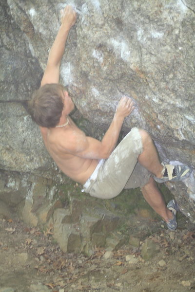 Ben Stas doing the standard V3 up the center of the face.