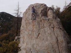 Rock Climbing Photo: Solo of the Shark fin...