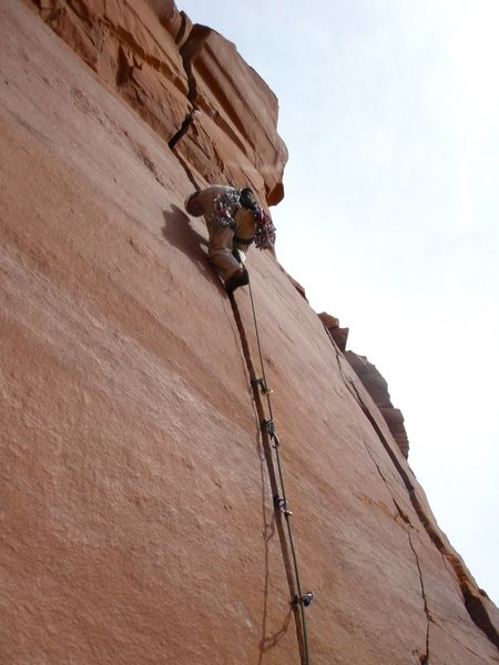 Andrew Porter, visiting from South Africa, leading pitch 1