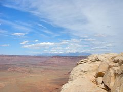 Rock Climbing Photo: The summit , with views of the La Sals