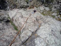 Rock Climbing Photo: On the first half.