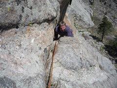 Rock Climbing Photo: Approaching the first belay.