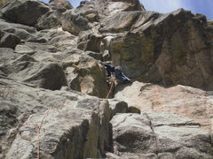Rock Climbing Photo: Nearing the top of the first pitch.