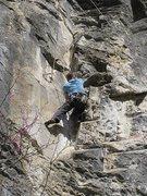 Rock Climbing Photo: Josh Davidson stemming his way up the broken corne...